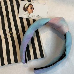 Lele Sadough Pastel Pink Tie-Dye Headband